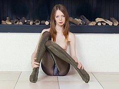 Skinny girl spreading for you