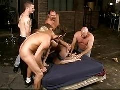 Sharon Insane 5 Dude Genital cumshot