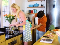 Carly Rae Her Kitchen Helper Hard Fuck pole