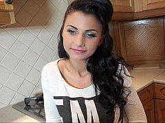 18 ans, Amateur, Brunette brune, Hard, Argent, Chatte, Réalité, Adolescente