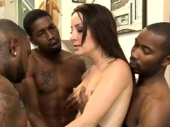 Marley Blaze asshole rammed by black dudes in many poses