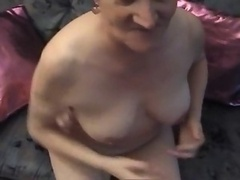 A Granny in Pantyhose a Cucumber and a Knob