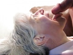 Granny Gives head Him Dry