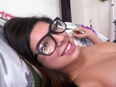 Nerdy Latina is sickk for cocks and always ready to fuck hard