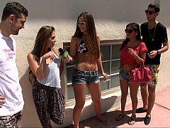 Amateur, Chica, Grupo, Fiesta, Piscina, Público, Coño, Realidad