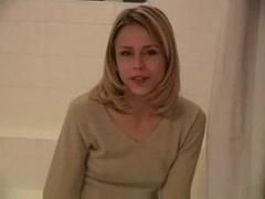 Blondine, Dusche