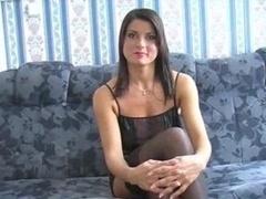 Good-looking Brunette In Stockings