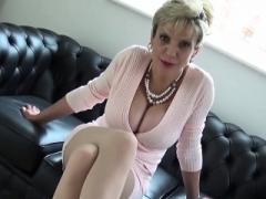 Adulterous english old lady sonia displays her big milk sacks