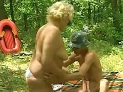 German Big beautiful women Granny Craves Young Dick