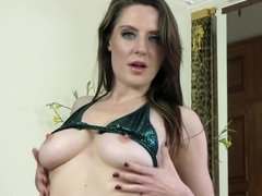 Shiny bikini striptease from gorgeous Brit Samantha Bentley