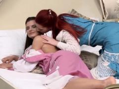 Klara & Faith have gentle lesbian hot sex in Boudoir