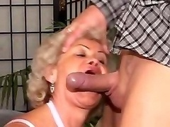 Old Blonde Granny Cocksucker And additionally Fucker