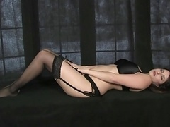 Ex-Girl Well-recognized Masterbating in Clack Stockings