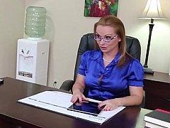 Блондинки, Милф, В офисе, Секретарша, Чулки
