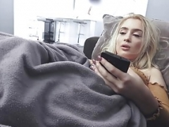 SisLovesMe - Attractive Blonde Caught Masturbating And Fucked