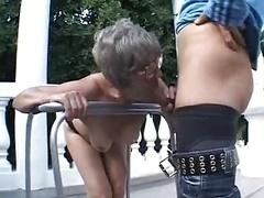 granny outdoor bang