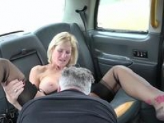 Fake Taxi Aged Milf gets her sizeable snatch lips stretched open