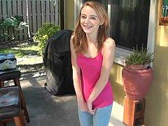 18 ans, Mignonne, Petite amie, Réalité, Rousse roux, Maigrichonne, Solo, Adolescente