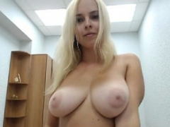 Sizeable boobs blonde