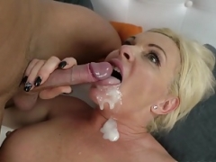 Matures and additionally grannies cummed on - cumshot compilation