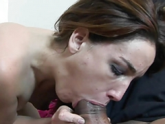 Aroused 18-19 year old Steph is getting nailed with a big black love tool