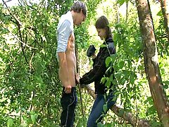 Hottie Gets Fucked Outdoor
