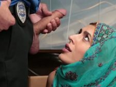 Arab shoplifter girl Audrey fucks a cops cock