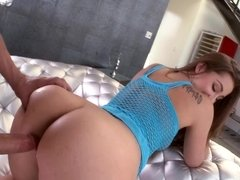 An all natural girl moves her ass in a very sexy and sensual way
