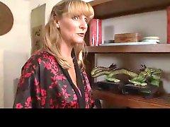 Granny Cum freak in STOCKINGS - Ginger Spice