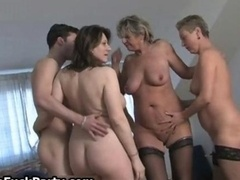 Three aroused mature housewifes