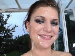 Face whole of cum for a beauty