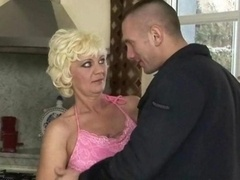 Naughty granny having an intercourse with immature dude