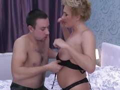 Taboo home sex with hot moms & lucky sons