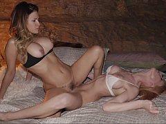 Lesbian lust at night