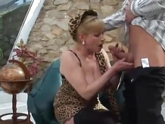 Boobalicious Granny Gets down and dirty Young Cock