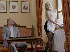 Moist pussy maid
