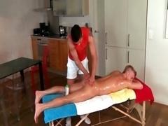 Mainstream fella gets gay total body massage