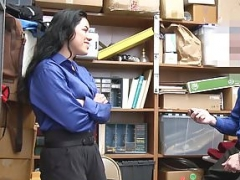 ShopLyfter - 18-19 year old Gets Humiliated By LP Officer's Cock