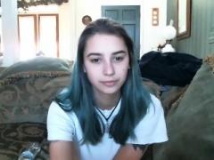 Blonde legal teen with huge hooter jacking off on webcam