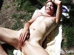 Yanks Minx Kara Dashka Masturbates Outdoors