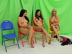 Amateur, Chica, Rubia, Morena, Ropa a, Flaco, Desnudarse, Adolescente