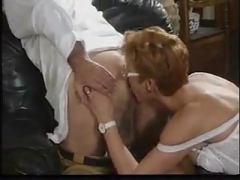 Granny ass licking