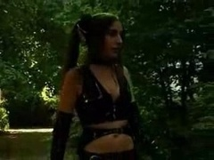 Latex Wearing Hoe Plays With Her Sex Sl...