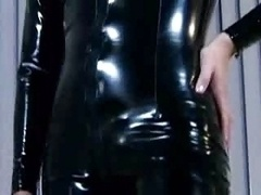 Ashley Blue In A Latex Catsuit G...