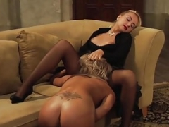 Well Disciplined Slave Shows Her Clit licking Skills