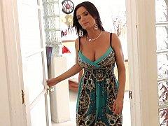 Américain, Brunette brune, Hard, Femme au foyer, Mature, Mère que j'aimerais baiser, Maman, Jarretelles