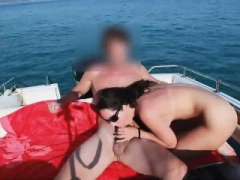 Breasty non-professional ExGf outdoor cock sucking with facial cumshot