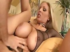 Huge breast broad Julia Ann gets fucked hard and besides has hot orgasm