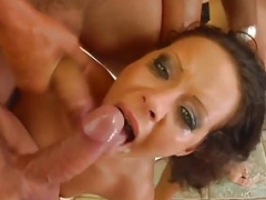 Cum For Cover presents Sasha and also Adrien doing blowbang face cumshot