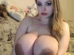 Amateur, Belle grosse femme bgf, Blonde, Fétiche, Masturbation, Mamelons, Jarretelles, Webcam